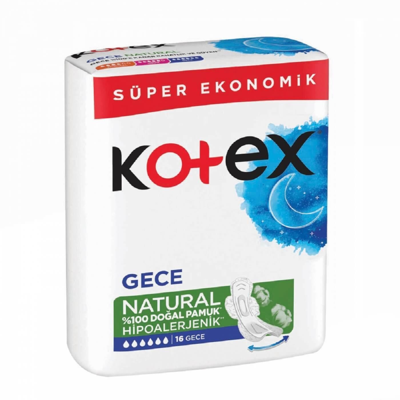 KOTEX NATURAL ULTRA GECE 16LI