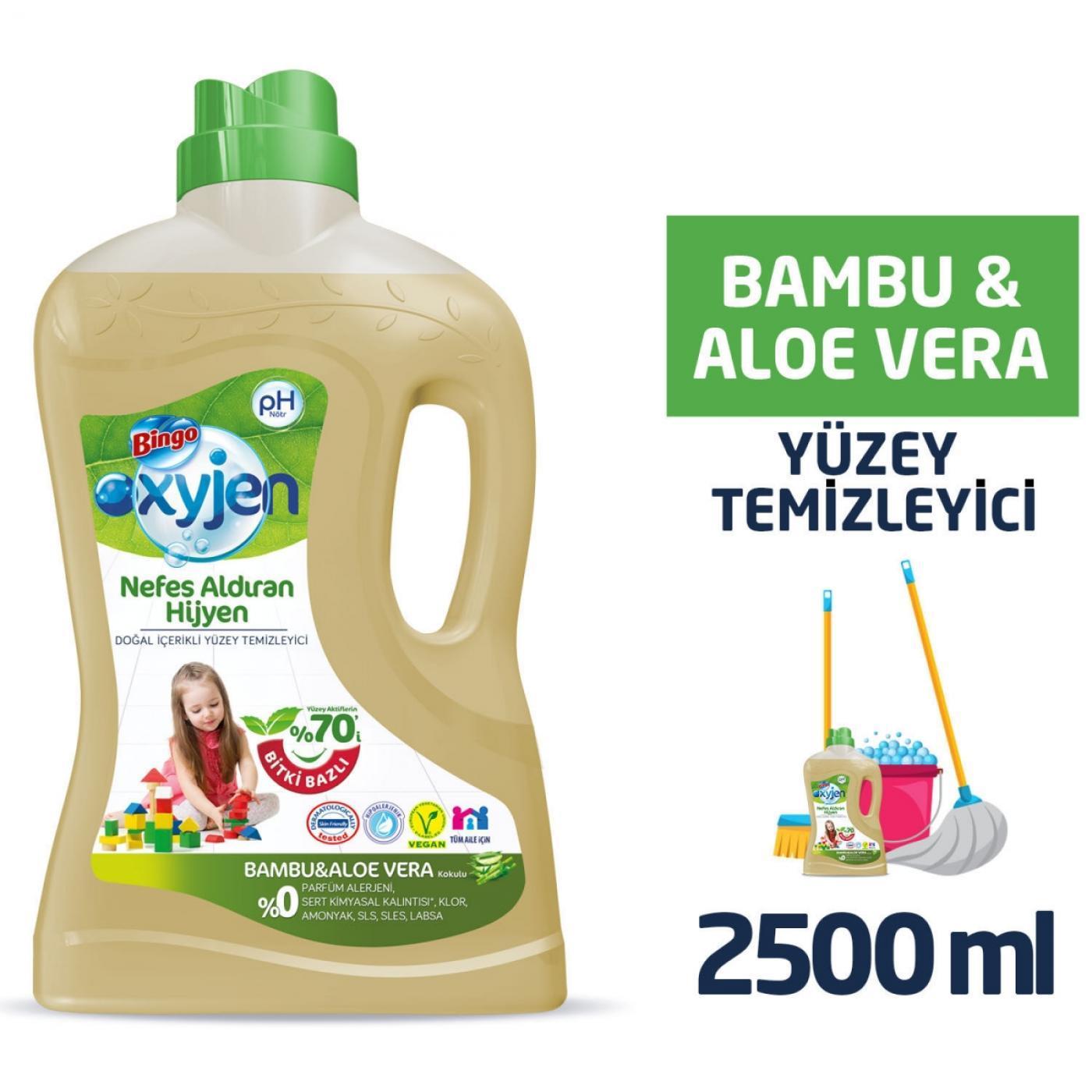 BİNGO OKSİJEN YÜZEY TEM. 2,5LT BAMBU&ALOE VERA