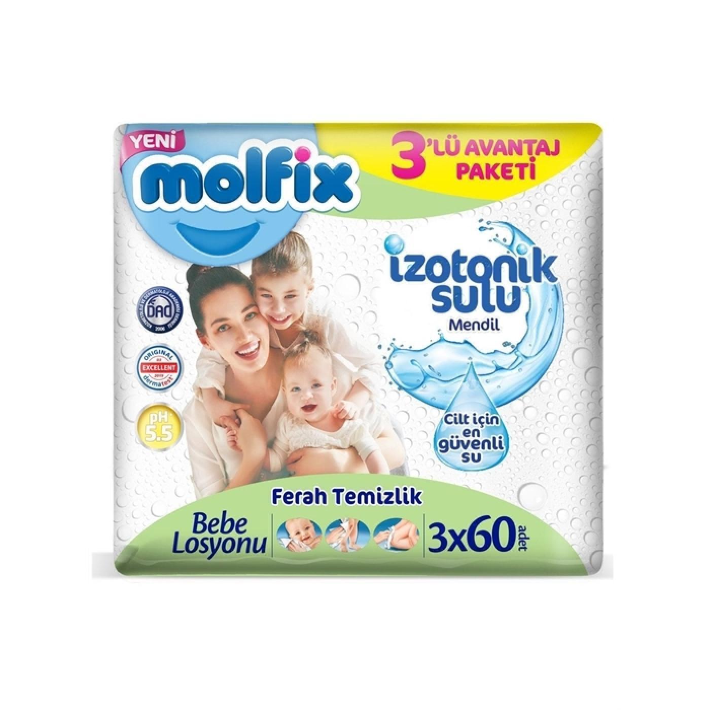 MOLFIX ISLAK HAVLU İZOTONİK 3*60LI FERAH TEMİZLİK