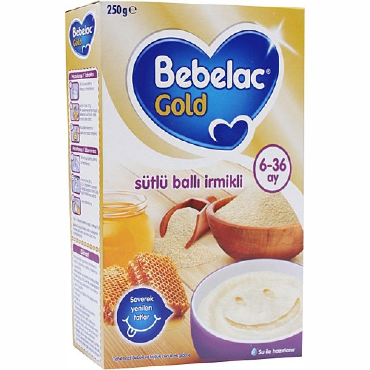BEBELAC GOLD 250GR SÜTLÜ BALLI İRMİKLİ
