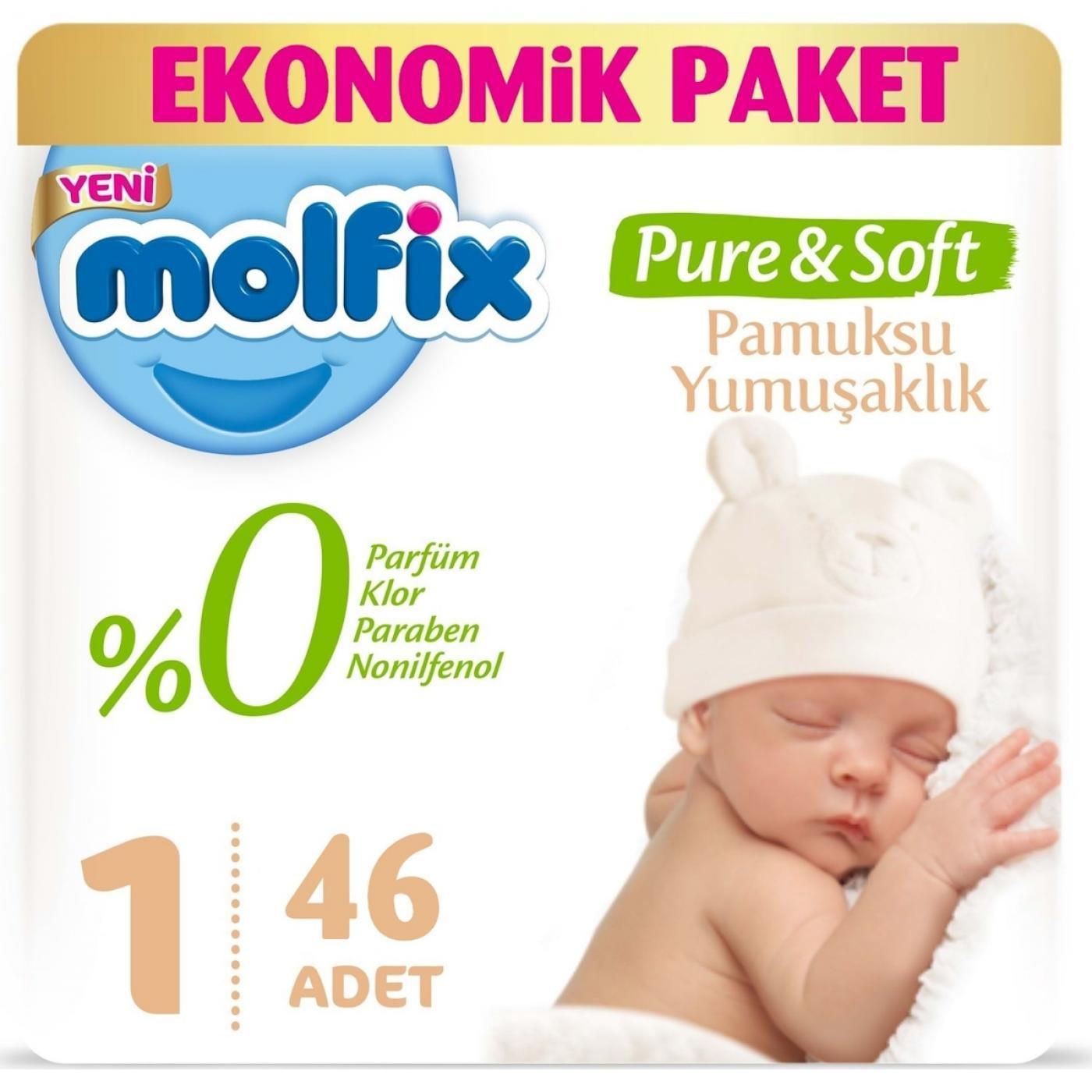 MOLFIX EKONOMİK PURE&SOFT YENİDOĞAN 46LI
