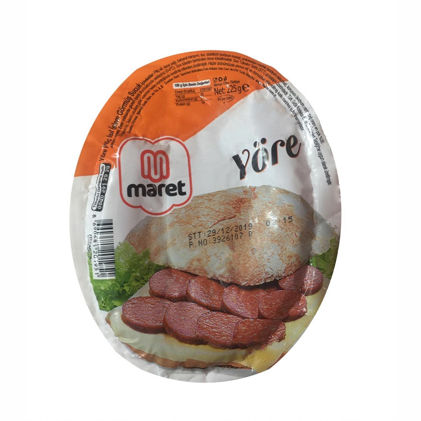 MARET SUCUK YÖRE KANGAL TAVUK 225GR