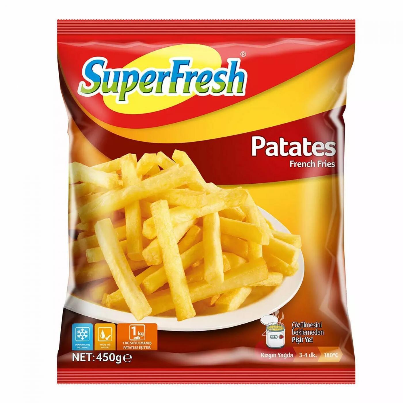 SUPERFRESH PATATES 450GR