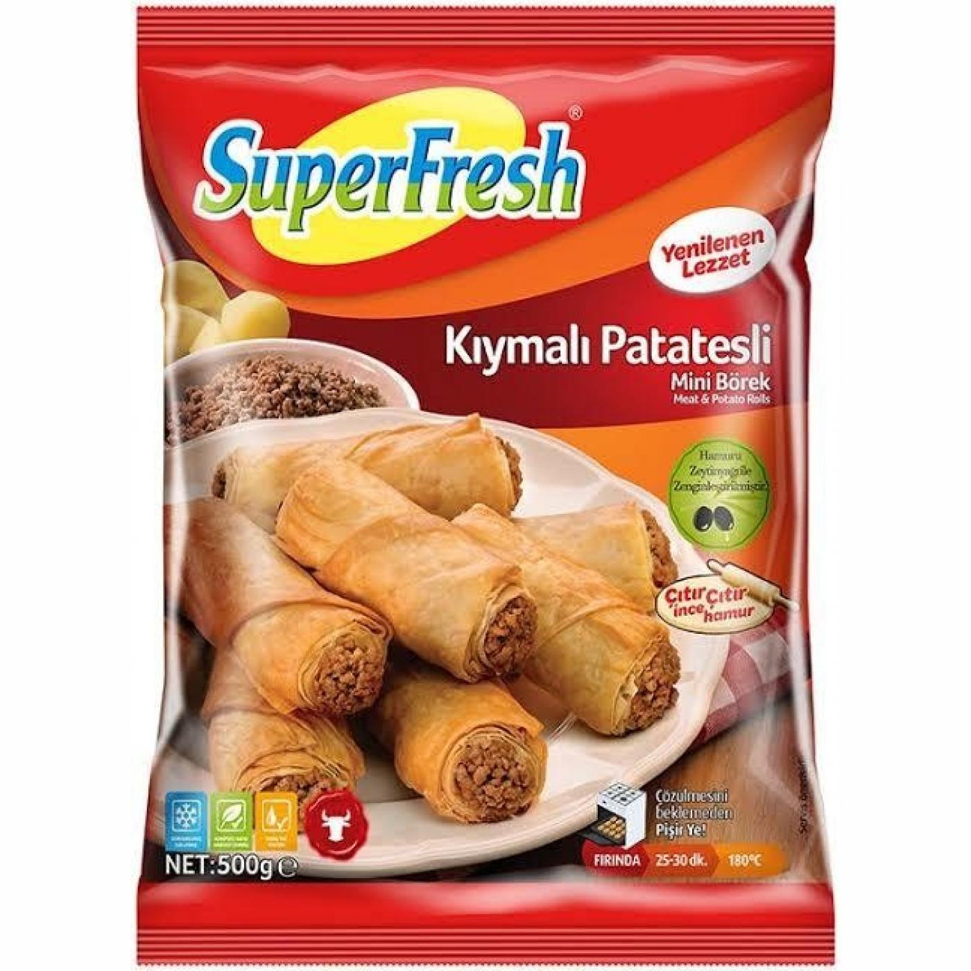 SUPERFRESH BÖREK 500GR KIYMALI PATATESLİ