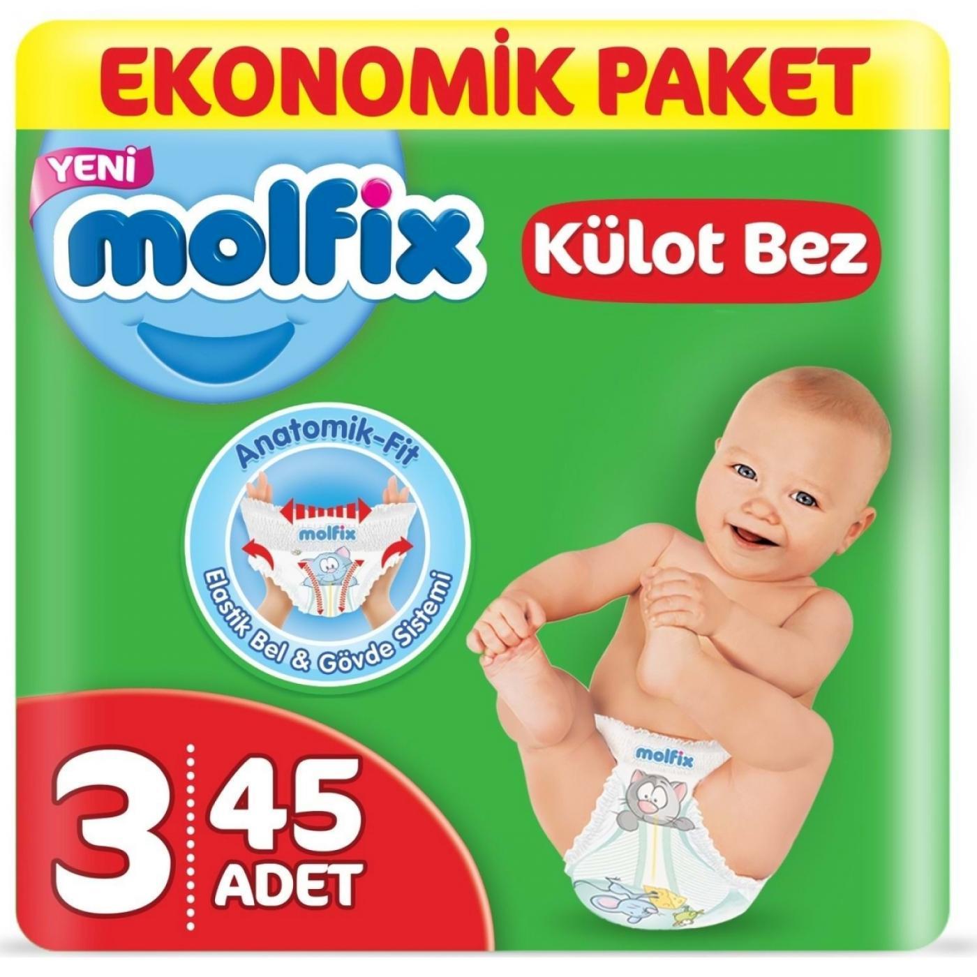 MOLFİX PANTS EKONOMİK MİDİ 45Lİ