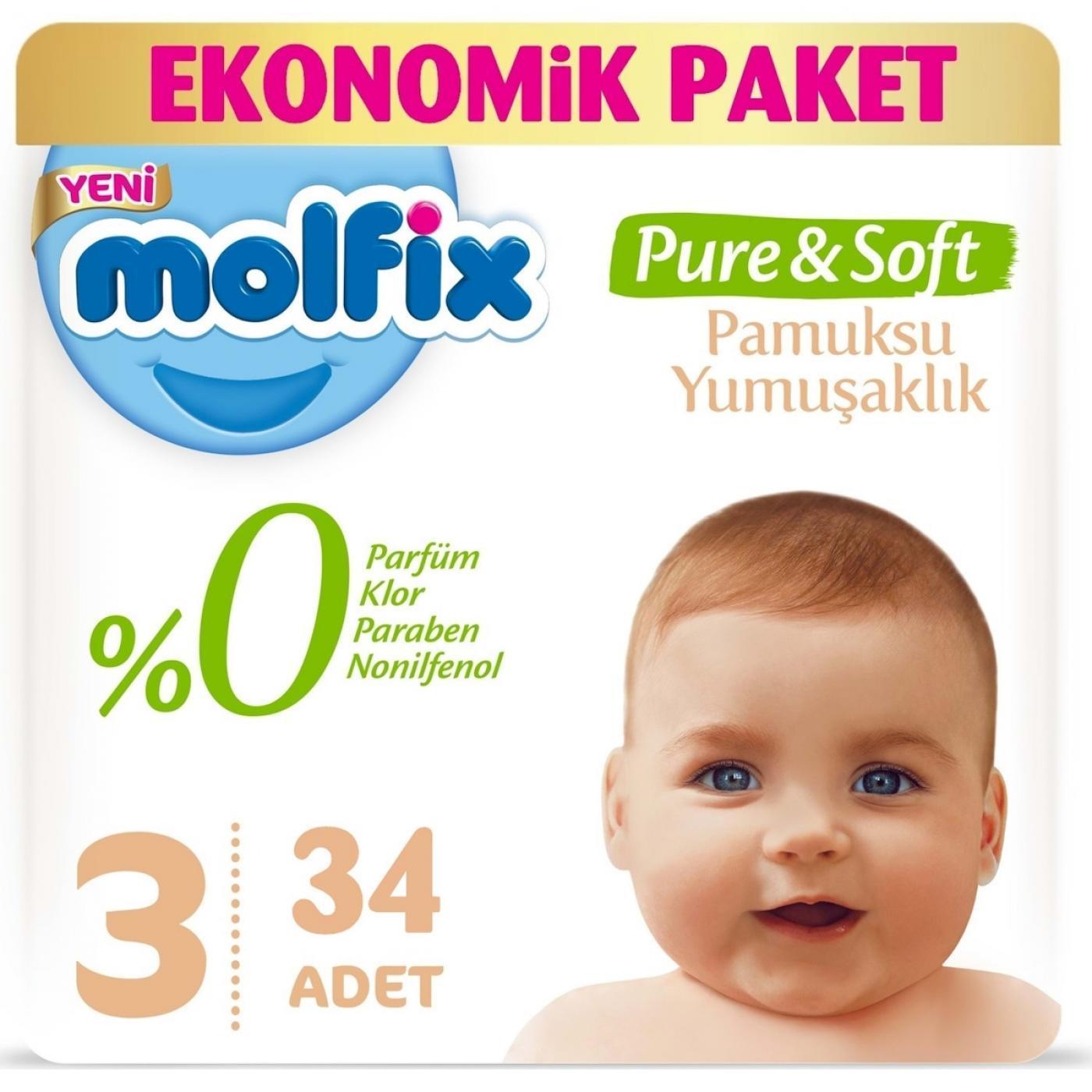 MOLFİX EKONOMİK PURE&SOFT MİDİ 34LÜ