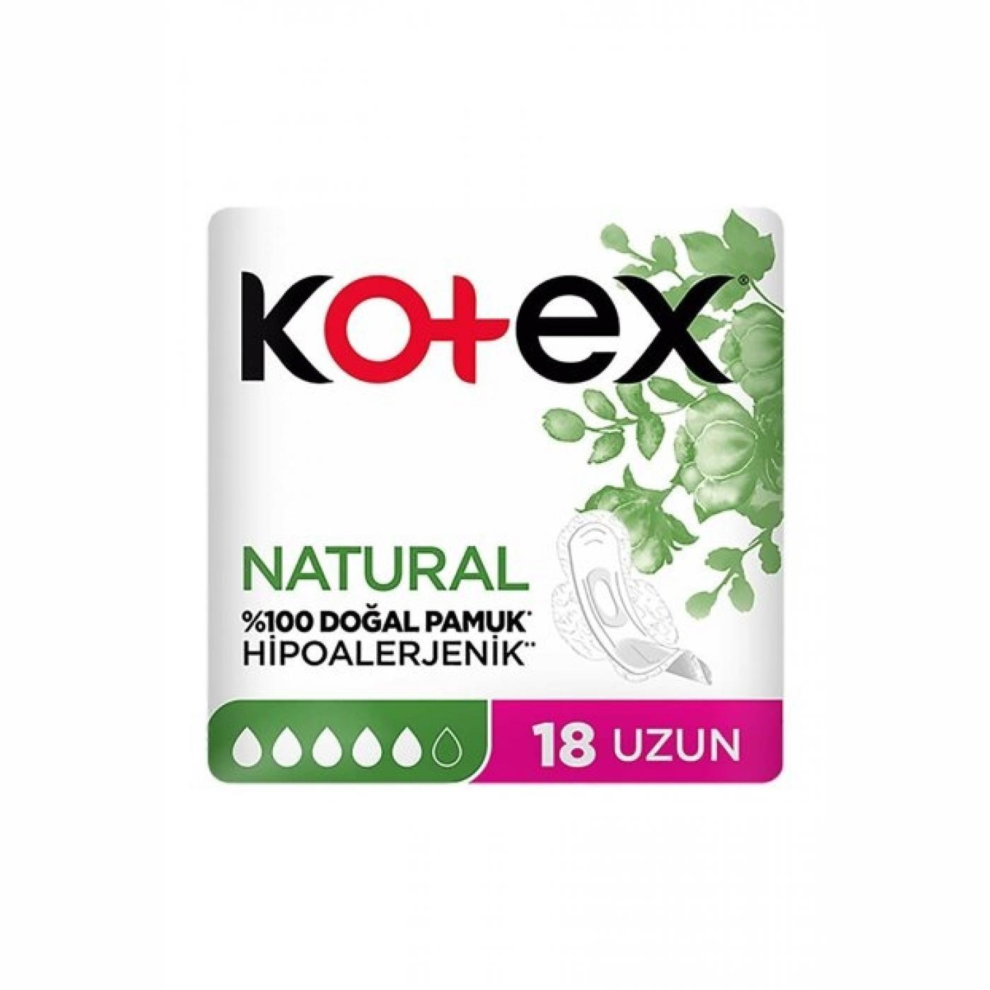 KOTEX NATURAL ULTRA UZUN 18Lİ