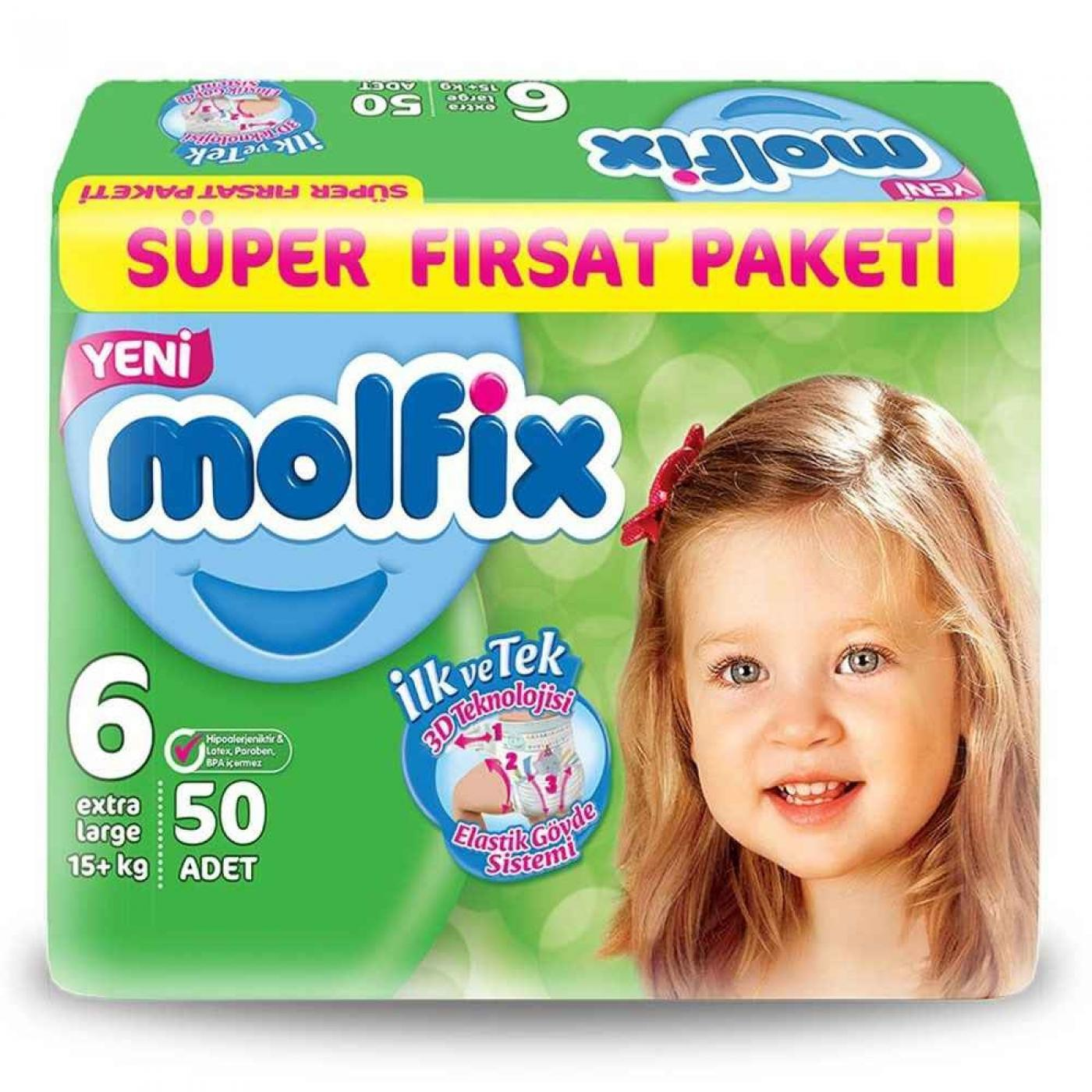 MOLFIX SÜPER F.PAKETİ EXTRA LARGE 50Lİ