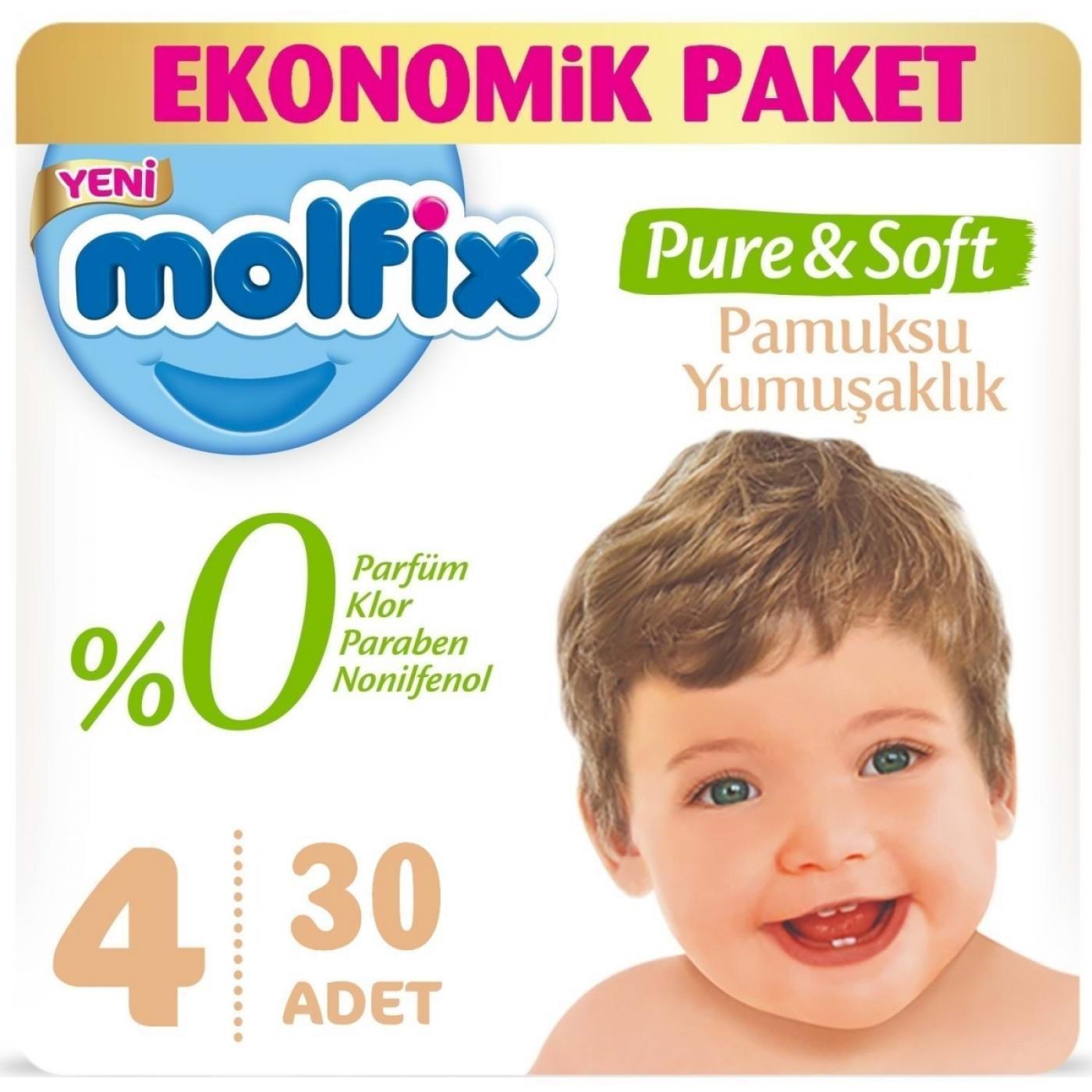 MOLFİX EKONOMİK PURE&SOFT MAXİ 30LU