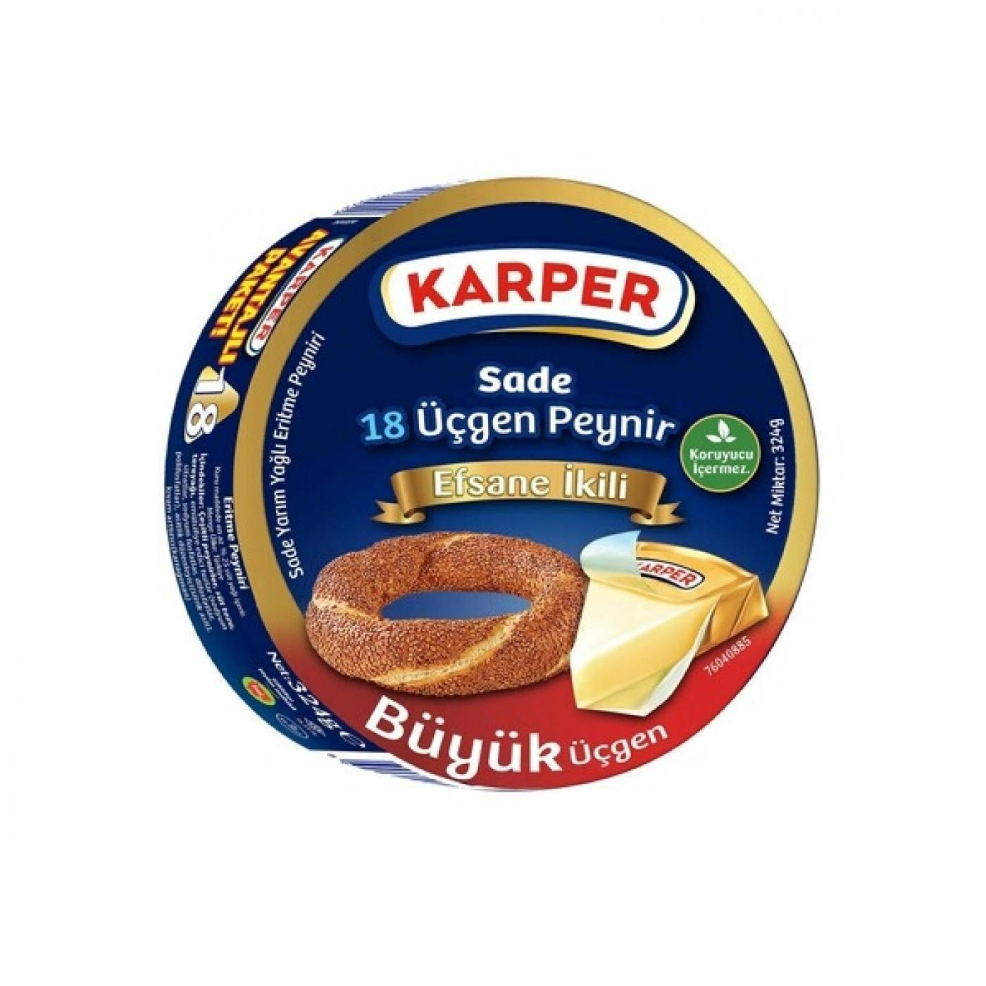 KARPER 8Lİ SADE ÜÇGEN PEYNİR 100GR