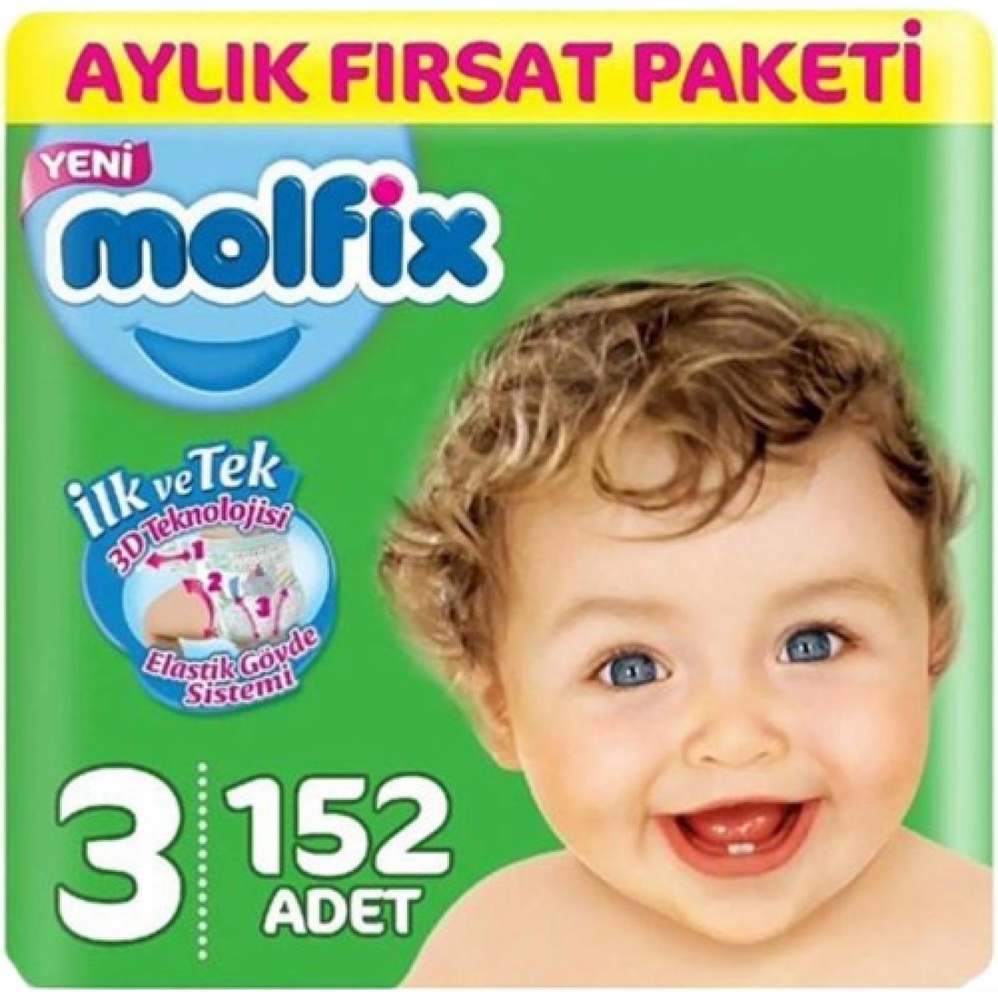 MOLFİX ULTRA AVANTAJ PAKETİ (3) 152Lİ