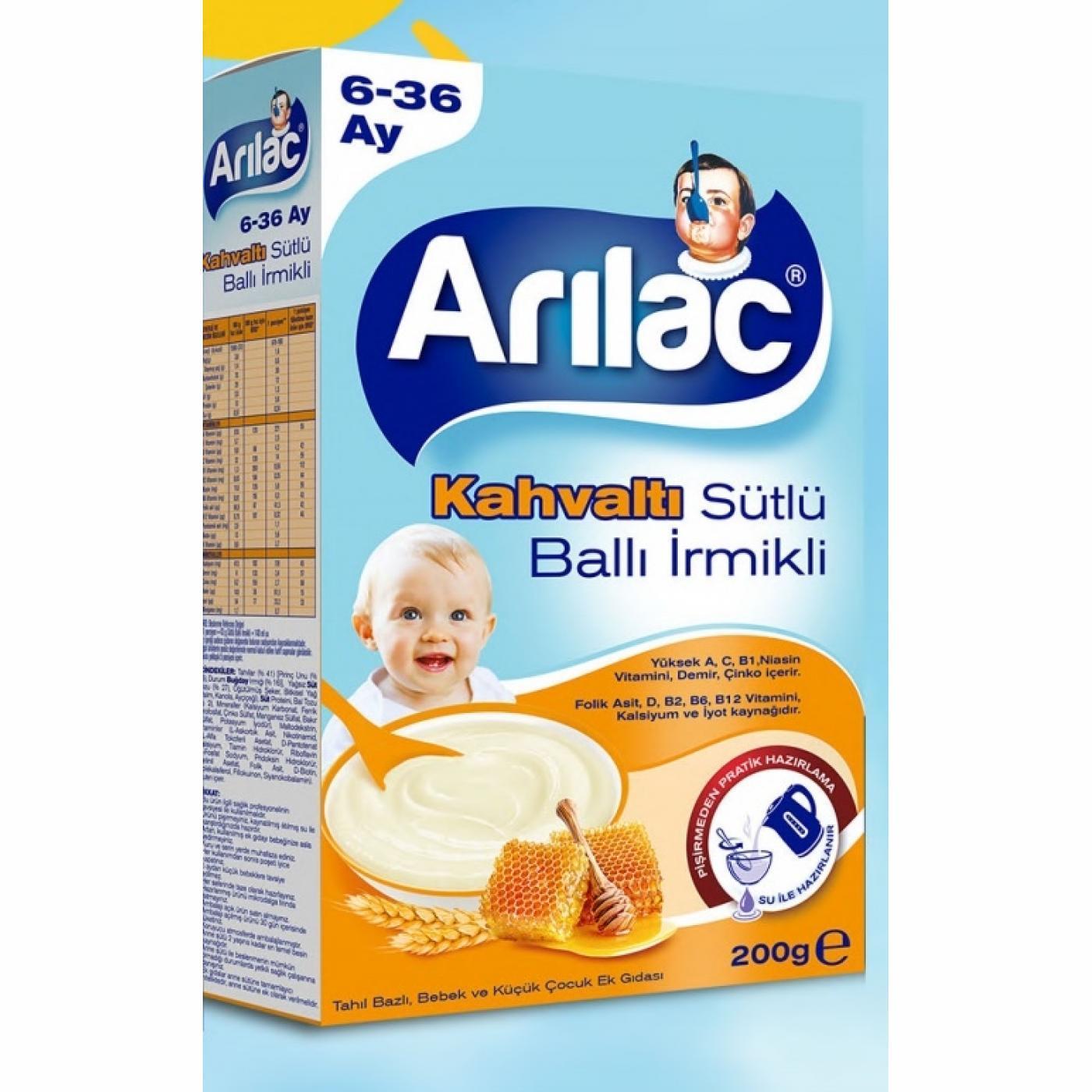 ARILAC 200GR SÜTLÜ BALLI İRMİKLİ